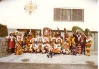 1977 Mullergruppe Volders beim Umzug in Volders
